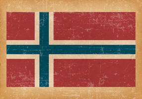 Grunge Vlag van Noorwegen vector