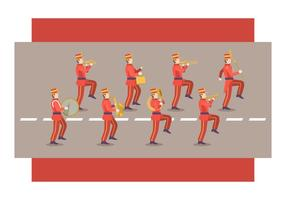 Gratis Marching Band Vector Illustratie