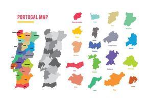 Portugal Kaart Vector