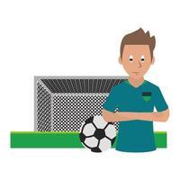 sport pictogram met voetballer