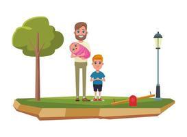 familie stripfiguren samen