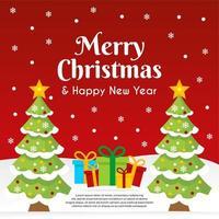 prettige kerstdagen en een gelukkig nieuwjaar banner vector