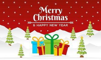 prettige kerstdagen en een gelukkig nieuwjaar banner