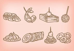 Appetizers Vector Pictogrammen