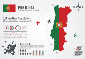Portugal Kaart Infographic vector