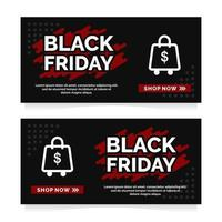 zwarte vrijdag banner ontwerpsjabloon