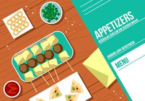 Appetizers Menu Gratis Vector
