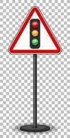 rood verkeersbord op transparante achtergrond
