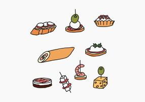Typische Spaanse Appetizers vector