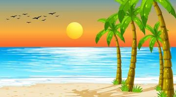 leeg natuurstrand oceaan kustlandschap vector