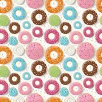 naadloze patroon met kleurrijke glanzende donuts vector