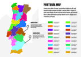 Portugal Kaart Infographic