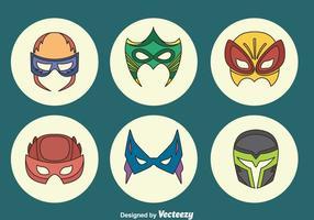 Geweldige superheld masker collectie vector