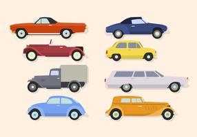 Platte klassieke auto-vectoren vector