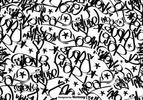 Vector Graffiti Tags Naadloos Patroon