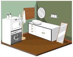 wasruimte interieur met meubels