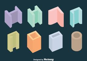 Kleurrijke Staaldraad Collectie Vector