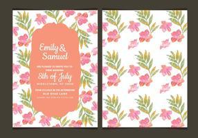 Bloemen Vector Bruiloft Uitnodiging