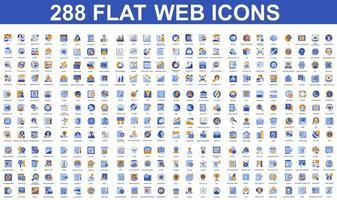 bundel van plat pictogrammen van verschillende concepten vector