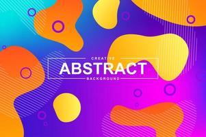 trendy design met dynamische vloeibare vormen vector