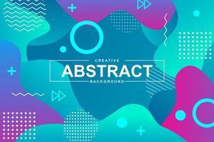 abstract ontwerp met dynamische vloeibare vormen vector