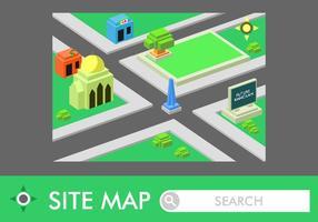 Isometrische Roadmap Gratis Vector