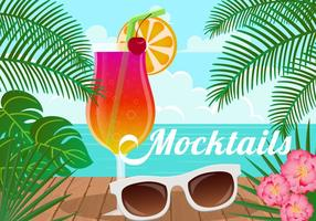 Zomerdrank Mocktail vector