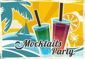 Mocktail feest in het strand vector
