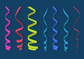 Vlak Serpentijn Papier vector