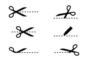 Knip hier pictogram vector