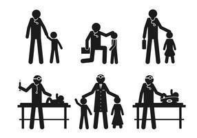 Pediatrician vector set
