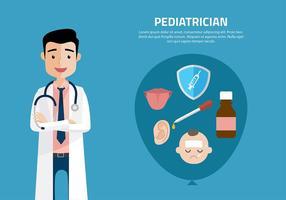 Pediatrician cartoon free vector