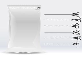 Verpakking Hier snijden vector