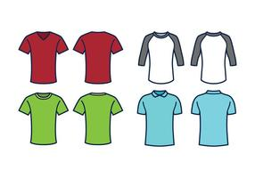 T-shirt Sjabloon Vector Set