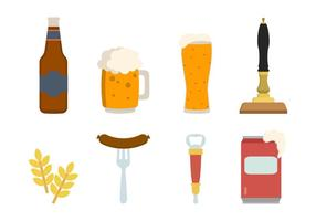 Platte Biervectoren vector