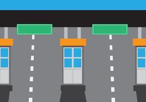 Eenvoudige tolbooth Station Vector