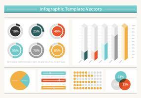 Gratis vlakke infografische vectorelementen