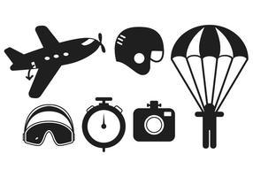 Skydiving vector set