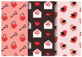 Gratis leuke Valentijnsdagpatronen vector
