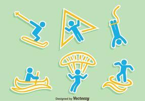Extreme sporten iconen vector
