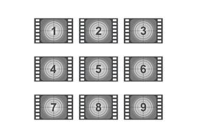 Aftellen vintage films vector