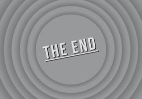 De End Silent Film Screen Vector