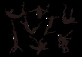 Bungee-springen silhouetten vector