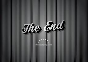 Silent film film eindigt achtergrond vector