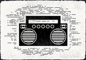 Gratis Vintage Muziekspeler Vectorillustratie vector