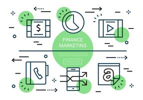 Gratis Flat Finance Vector Elementen