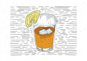 Vrije Hand Getekende Vector Koude Drink Illustratie