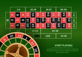 Roulette casino tablet vector