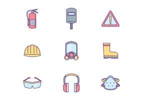 Veiligheidsuitrusting Icon Pack