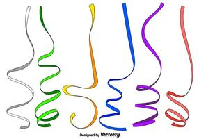 Vector Set Thin Party Streamers